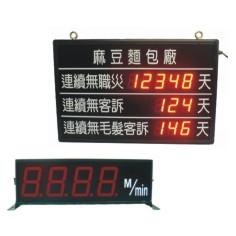 大型計數器、計時器、熱電耦、轉速、線速顯示器